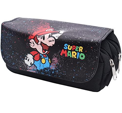 Estuche de lápices Super Mario, ALHX Estuches Escolares, Estuche de Lápices Multifuncional 3D Impresión Bolsa de Lápiz Estuches Bolsa Almacenamiento de Papelería de Gran Capacidad Adecuado