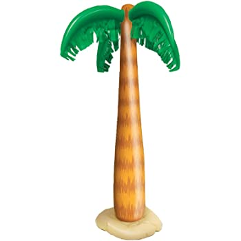 Amscan 374581 Jumbo Inflatable Palm Tree Green//Brown 6