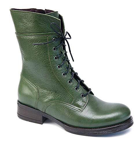 Brako Stiefel Boots 6738 Traviata Verde Alba Leder grün m. Reißverschluss (36 EU)