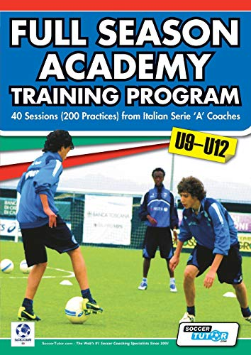 Full Season Academy Training Program U9-12 - 40 Sessions (200 Practices) from Italian Serie 'a' Coaches