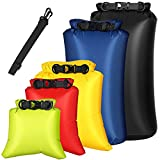 BOSIXTY Dry Bag 5-Pack, Waterproof Dry Bag Set for Kayaking Boating, Lightweight Airtight Waterproof Bags, Diamond Ripstop Drybag Dry Sacks Outdoor Storage Bags for Canoeing Camping (Assorted Color)