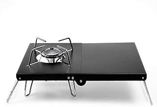 遮熱板 テーブル 折り畳み SOTO310 シングルバーナー用 一台多役 アルミ 軽量 コンパクト 専用収納袋付き