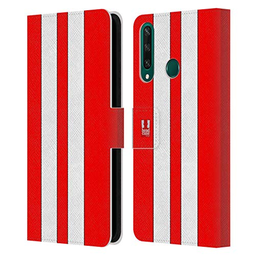 Head Case Designs Roter Rennenwagen Transportmittel Farbig Leder Brieftaschen Handyhülle Hülle Huelle kompatibel mit Huawei Y6p