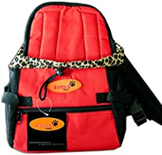Dog Carrier Front Pack for Dogs Comfortable Front Carrier, Medium, Red