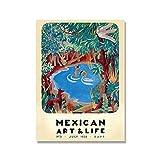 El Maestro cartel de cactus vintage e impresión de arte mexicano cuadro de arte de pared hogar sin marco pintura decorativa en lienzo A4 50x75cm