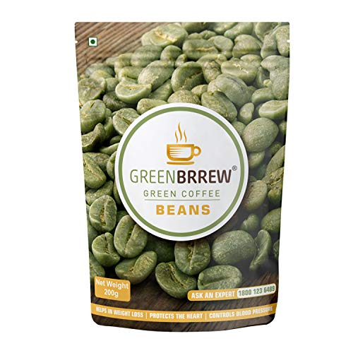 Greenbrrew Organic Unroasted Green Coffee Beans for Weight Loss, 200g