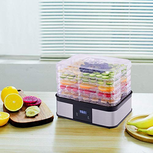 HAPPYGRILL Food Dehydrator Machine, Best Electric 5-Tier Home Food Meat Beef Jerky Fruit Vegetable Dehydrator Dryer Preserver, Professional 360 Degree Hot Air Circulation System