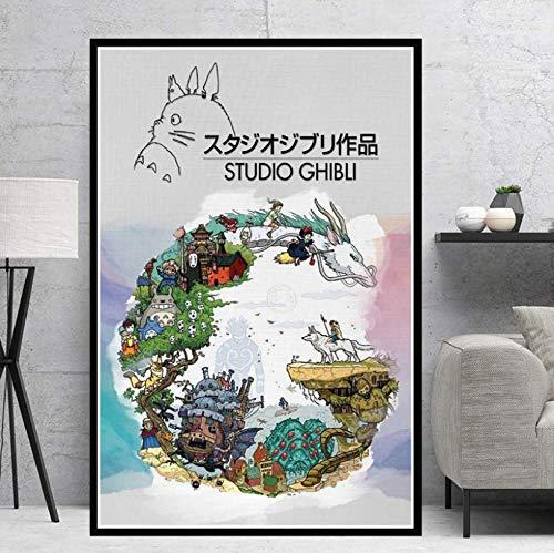 MZCYL Puzzles 1000 Teile Zusammenbau Picture Studio Ghibli Tribut Japan Anime Comic Kinder S Kunst Für Erwachsene Kinder Spiele Lernspielzeug MA1262