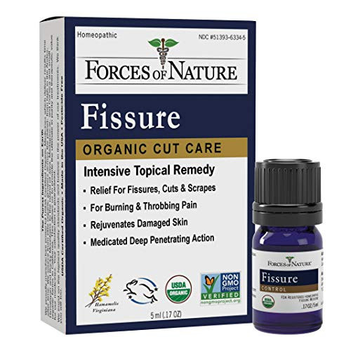 Forces of Nature – Natural, Organic Fissure Care (5ml) Non GMO, No Harmful Chemicals –Soothe and Relieve Burning, Throbbing, Stinging, Itchy, Bleeding Tissue Caused by Fissures or Hemorrhoids