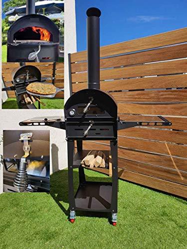 Freiluftküche Flammkuchenofen Pizzaofen Holzbackofen Brotbackofen Gartenofen Rhinau mit Fahrgestell