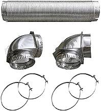 Builder's Best BDB110050 Semi-Rigid Dryer Vent Kit with Close Elbow, Silver