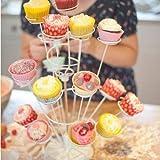 SWEETLY DOES IT Spiralbaumständer 15 Cupcakes 40cm in weiß, Porzellan, 8 x 16 x 26 cm - 3