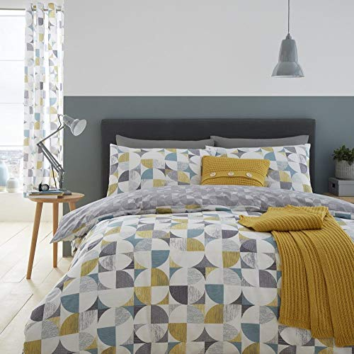 Catherine Lansfield Retro Circles Easy Care Double Duvet Set Multi