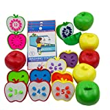 Skoolzy Counting Toddler Games - STEM Apple Factory Learning Toys for 3 Year olds to Ages 6 - Fine Motor Skills Color Sorting Montessori Toys for Toddlers Gifts - Educational Materials Activities