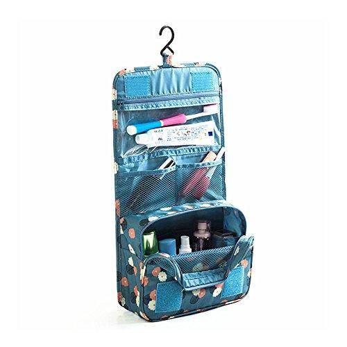 トラベルポーチ 洗面用具入れ 化粧ポーチ 旅行bag バスルームポーチ マジックテープ フック付き 収納バッグ...