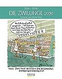 Zwillinge 2020: Sternzeichenkalender-Cartoonkalender als Wandkalender im Format 19 x 24 cm.