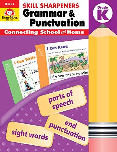 Evan-Moor Skill Sharpeners Grammar and Punctuation Grade K, Full-Color Activity Book - Supplemental Homeschool Workbook