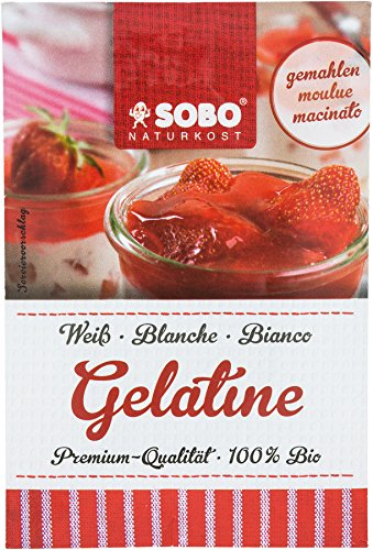 Polvo de Gelatina Orgánica Pura SOBO Paquete de 15 x 9g | La Primera Gelatina en Polvo del Mundo - Gelatina de Cerdo Orgánica Pura en Polvo - Gelatina de Alimentos Orgánicos