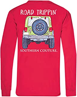 Southern Couture SC Comfort Road Trippin On Long Sleeve Womens Fit Shirt - Paprika