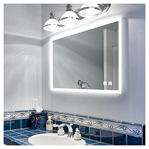 ROGSFN 36'x28'Inch LED Bathroom Mirror Lighted Wall...