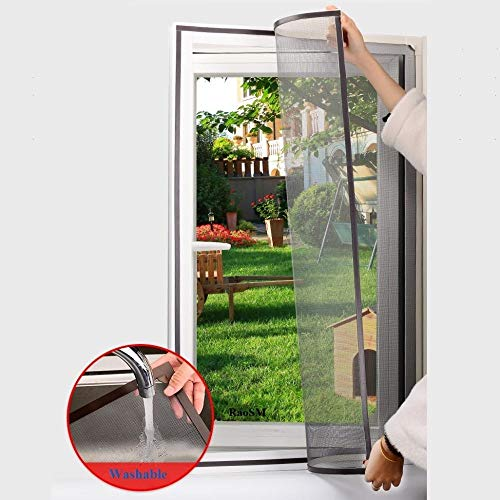 Adjustable DIY Customize Magnetic Window Screen Windows for Motorhomes Removable Washable Invisible Fly Mosquito Screen Net Mesh, WhiteNet-WhiteFrame, W200cm×H100cm