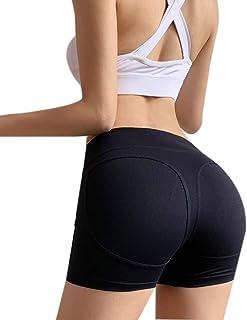 女性のスポーツバットスクラッチを押し上げます短いスリムジムエクササイズ速乾性弾性ヨガホットパンツ