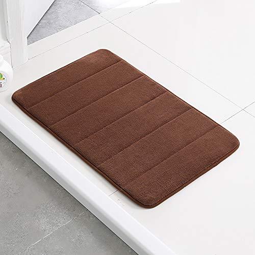 GRZHJK Memory Foam Bath Rug,Non Slip Absorption Super Cozy Velvet Bath Food Carpet,Tub Shower Food Easier To Dry Machine Wash Bathroom Kitchen Floor Food