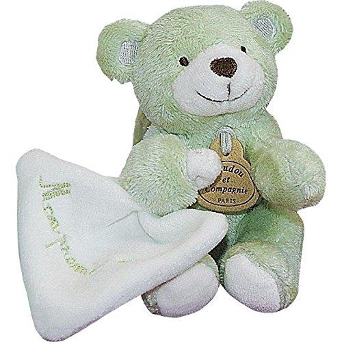 Doudou et Cie - Doudou Doudou et Compagnie mon premier doudou ours bonbon vert mouchoir DC1282 - HO61