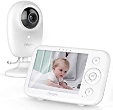 "Simyke Video Baby Monitor with Camera and Audio 3.5"" LCD Digital Display with Long Range Night Vision Temperature Monitori..."