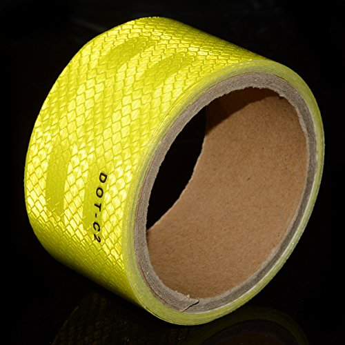 Fluorescent Yellow DOT-C2 Conspicuity Reflective Tape - 2 inches X 20 feet