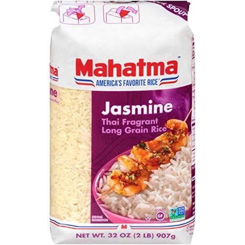 Mahatma Authentic Aromatic Thai Jasmine White Rice, Gluten-Free, Non-GMO, Vegan, 2 lb