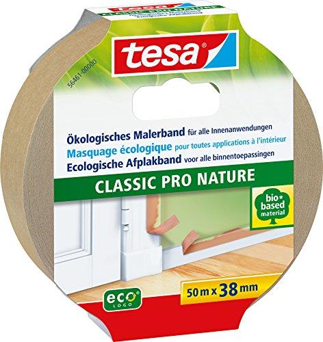 tesa Malerband CLASSIC Pro Nature für alle Standard Malerarbeiten, ökologisch, 50m:38mm