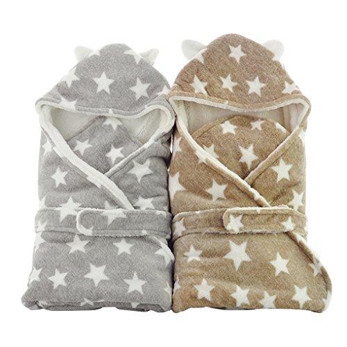 FXZ おくるみ ブランケット 赤ちゃん すっぽり やわらか 星柄 動物 ベルト付き かわいい 着ぐるみ 防寒 厚い 退院時 出産祝い 寒さ対策 ベビー 新生児 プレゼント 秋冬 2カラー