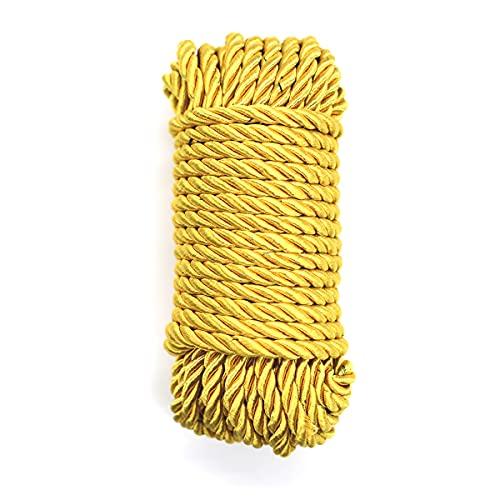 Corda di nylon da 10 m, multiuso, corda di paracord per campeggio, artigianato e altre attività all'aria aperta, colore: oro