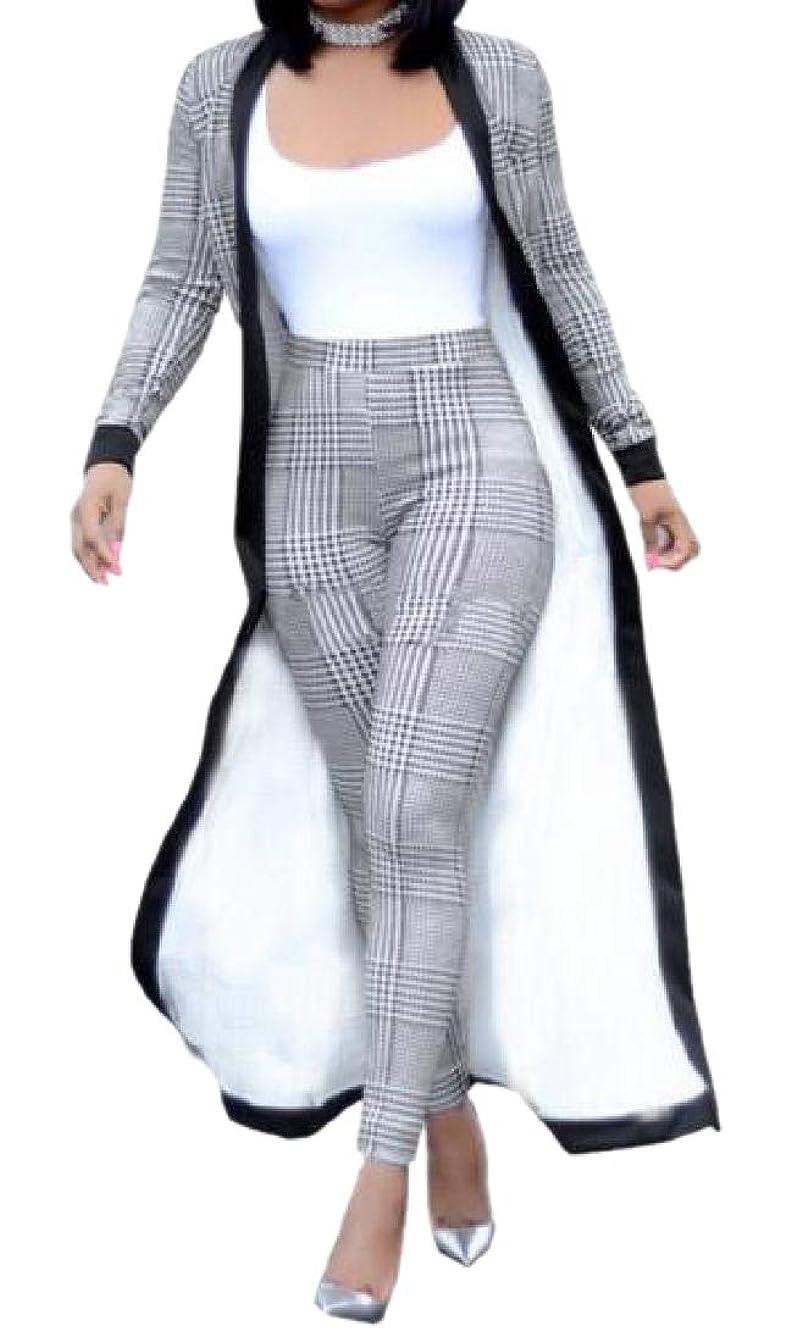 作者シネマ悪性レディース2ピースセット プリントロングスリーブ カーディガン ハイウエストズボン 衣装