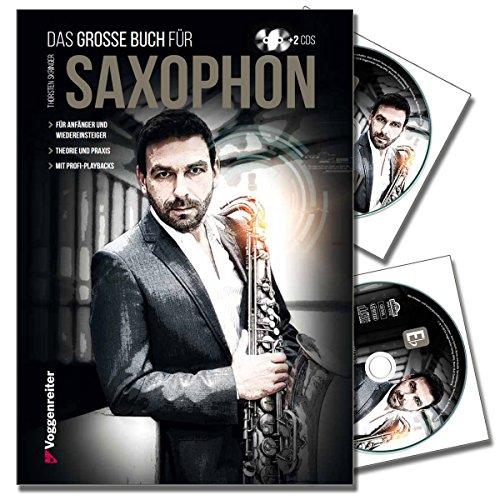 Torsten Skringer, grote boek voor saxofoon - saxofoon school met 2 cd's voor beginners en herinneringen - theorie - praktijk en professionele playbacks [ringband in hardcover]