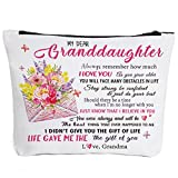 To My Granddaughter Gifts Graduation Gifts for Granddaughter Birthday Gifts Back to School Gift Granddaughter Gifts from Grandma, Wedding Gifts for Granddaughter Makeup Bag-My Dear Granddaughter