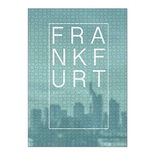 artboxONE Ravensburger-Puzzle XL (1000 Teile) Städte Frankfurt am Main Schriftzug - Puzzle Frankfurt City Life