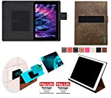 Hülle für Medion LifeTab E10501 Tasche Cover Case Bumper | Testsieger | Braun Wildleder