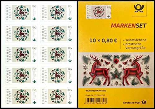 *** Markenset: Frohes Fest, 10x0,80€, selbstklebend