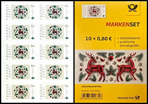 *** Markenset: Frohes Fest, 10x0,80€, selbstklebend