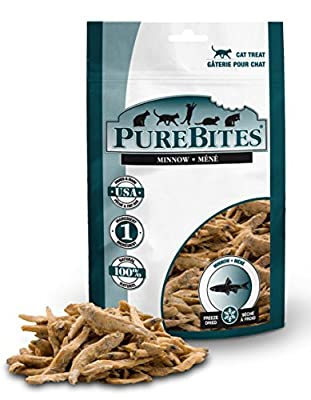 Purebites Minnow Freeze Dried Cat Treats, 1.09Oz | 31G - Value Size