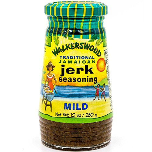 Walkerswood Traditional Jamaican Jerk Seasoning, 10 oz., Mild, Versatile Jerk Seasoning, Add Traditional Jamaican Kick to Chicken, Lamb, Pork, Fish and Vegetable Dishes