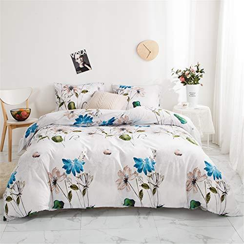 YYSZM Adecuado para Textiles para El Hogar De Los Niños Funda Nórdica Patrón De Flores Suave Y Cómodo Traje Hipoalergénico De 3 Piezas 228x228cm