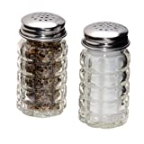 1st Choice FBA_BCK31360 Retro Style Salt and Pepper Shakers with Stainless Tops (2), 1, Original Version