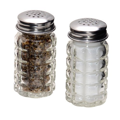 1st Choice 4562 FBA_BCK31360 Retro Style Salt and Pepper Shakers with Stainless Tops (2), 1, Original Version