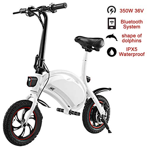 shaofu Folding Electric Bike– 350W 36V Electric Bicycle Waterproof E-Bike with 15 Mile Range, Collapsible Frame, and APP Speed Setting