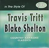 TRAVIS TRITT & BLAKE SHELTON Country Karaoke Classics CDG Music CD