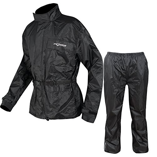 A-Pro Waterproof Motor Bike Motor Cycle 2 PC Rain Suit Trouser Jacket Scooter M