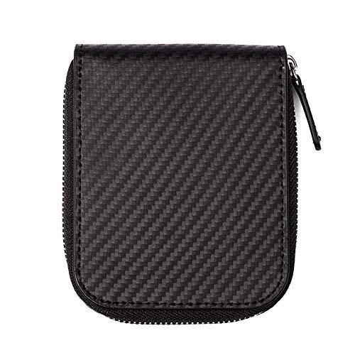 小銭入れ メンズ 本革 人気 コインケース カードケース 札入れ ファスナー SENTUO (ブラック)